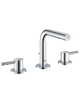 Related Grohe Essence Three Hole Basin Mixer Tap With Pop Up Waste