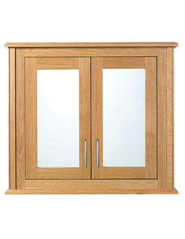 Thurlestone 2 Wood-Mirror Glass Door Wall Cabinet