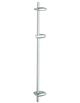 Movario Wall Mounted Chrome Shower Rail 900mm - 28398000