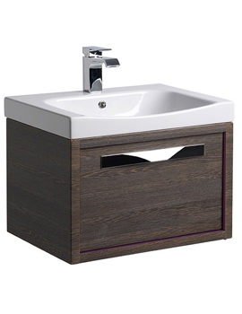Related Roper Rhodes Breathe 600mm Wall Mounted Unit Mali-Plum Including Basin