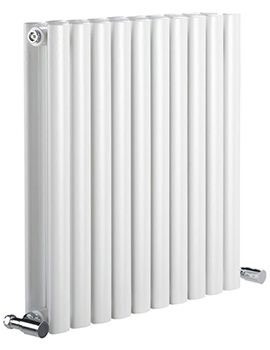 DQ Heating Cove 1180 x 550mm Double Sided Horizontal Radiator White