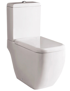 RAK Metropolitan Deluxe Close Coupled WC And Soft-Close Seat 620mm