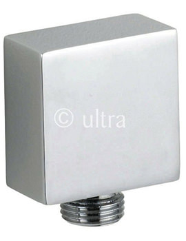 Ultra Square Chrome Outlet Elbow - A3245