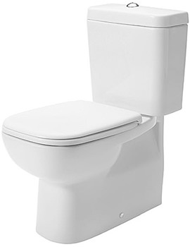 D-Code 355 x 650mm Close Coupled WC Pan With Cistern