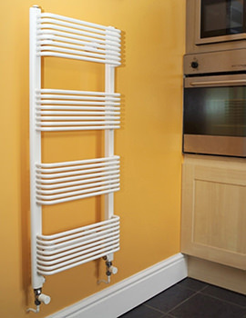 Trieste Superior White Towel Warmer 450 x 1600mm - TWSW4.5W1600