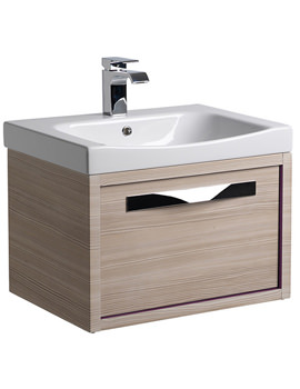 Breathe 600mm Wall Mounted Unit Pale Driftwood And Basin