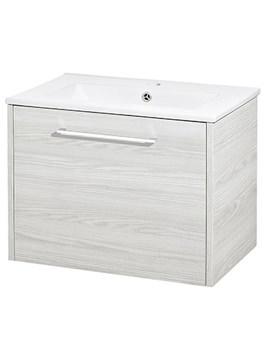 Horizon White Sawn Oak 1 Drawer Vanity Unit - FHZ005
