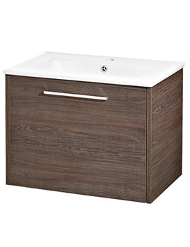 Horizon Mid Sawn Oak 1 Drawer Vanity Unit - FHZ020
