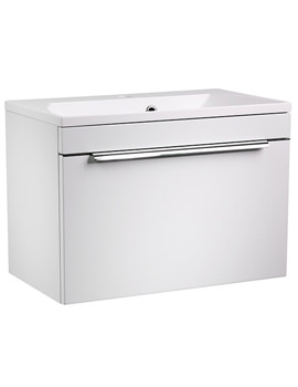 Cypher 600mm White Wall Mounted Unit With Basin