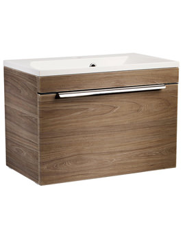 Cypher Dark Elm 600mm Wall Mounted Unit With Basin
