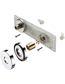 Related Bristan Wall Mount 11 Fixing Kit Chrome - WMNT11 C