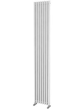 Beo Linda Rounded Rectangular 305 x 1800mm Aluminium Radiator White