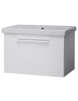 Envy 600mm White Wall Mounted Unit And Basin - EN600W