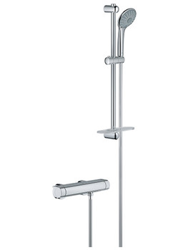 Grohtherm 2000 New Exposed Chrome Thermostatic Shower Set