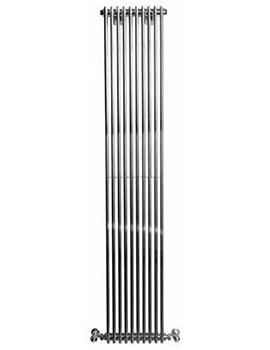 Rimini 1800mm Height Straight Single Tube-On-Tube Radiator Chrome