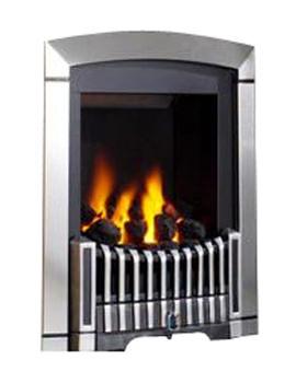 Melody Slimline Manual Control Inset Gas Fire Silver - FDRN68G