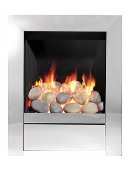 Sensation Slimline Inset Gas Fire Chrome - 83534