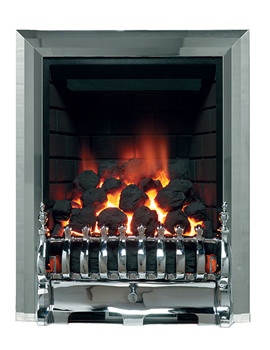 Be Modern Classic Traditional Full Depth Inset Gas Fire Chrome 00958X