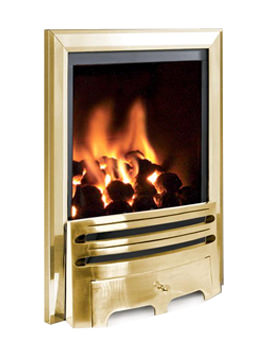 Flavel Kenilworth Manual Control HE Inset Gas Fire Brass