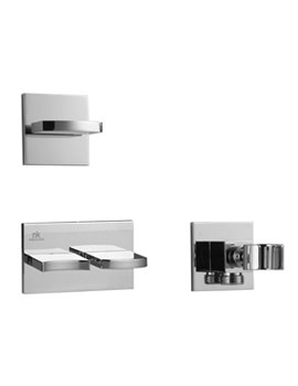 Porcelanosa Noken Imagine 3 Hole Valves And Hand Shower Wall Outlet Holder