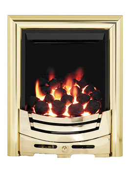 Be Modern Signum Full Depth Thermostat Inset Gas Fire Brass - 55131