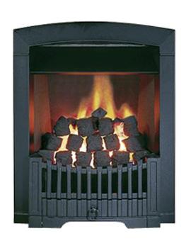 Flavel Rhapsody Slide Control Natural Gas Fire Black - FDCN57SN