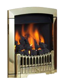 Flavel Rhapsody Slide Control Natural Gas Fire Brass Finish - FDCN45SN