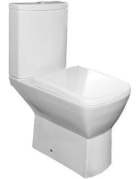 Summit Close Coupled WC With Soft-Close Toilet Seat 650mm