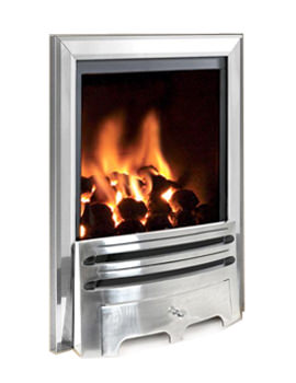Flavel Kenilworth Manual Control HE Inset Gas Fire Silver
