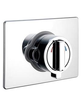 Bristan Square Concealing Plate Universal Kit Chrome - KIT UNI SQR1 C