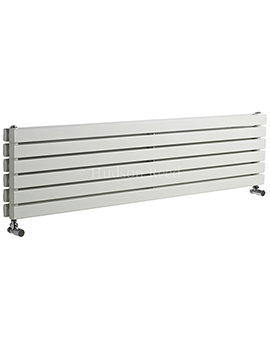 Sloane Double Panel Horizontal White Radiator 1500x354mm