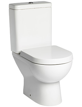 Ion Close Coupled 600mm WC With Cistern And Toilet Seat