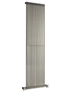 MKV16 Chrome 810mm Single Vertical Radiator - 13 to 40 Sections