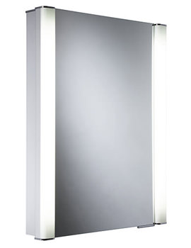 Illusion Recessible Single Mirror Glass Door Cabinet