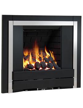 Panoramic Slimline Inset Gas Fire Plain Black-Coal - 32042