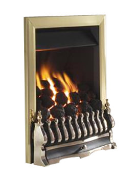 Richmond Slide Control Inset Gas Fire Brass - FICC42SN