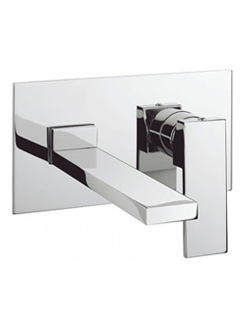 Crosswater Zion 2 Hole Set Basin Mixer With Backplate - ZN121WNC