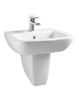 Related Ideal Standard Ventuno 555mm Basin With Semi Pedestal - T043501