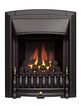 Dream Convector Slimline Slide Control Inset Gas Fire Black