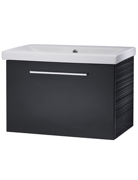 Envy 600mm Anthracite Wall Mounted Unit And Basin