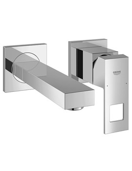 Related Grohe Eurocube Wall Mounted 2 Hole Basin Mixer Tap