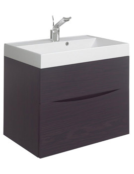 Glide II 700 x 455mm Basin Unit Wenge - GL7000DWN