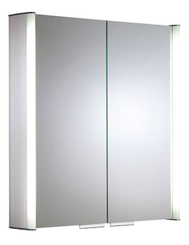 Summit 654mm Double Door Aluminium Mirror Cabinet