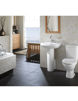 Twyford Refresh Square Contemporary White Bathroom Suite