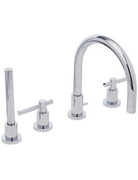 Heritage Fairport 4 Hole Deck Mounted Bath Shower Tap