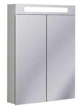Aluminium 600 x 800mm Double Door Mirrored Cabinet