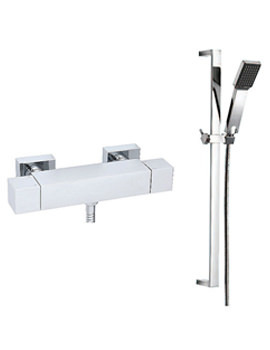 Edge Exposed Thermostatic Shower Valve With Slide Rail Kit