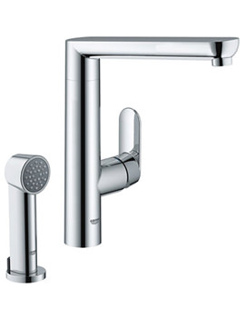 K7 Chrome Sink Mixer Tap With Pull Out Spray - 32179000
