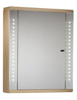 Related Sensory Instinct Single Mirror Glass Door LED Cabinet Oak - SN590NO
