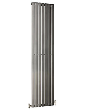 DQ Heating Delta 230 x 1800mm Brushed Stainless Steel Vertical Radiator